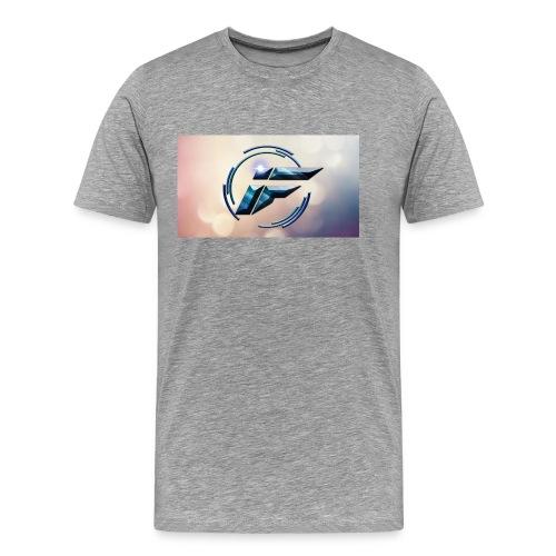 Logo and background - Men's Premium T-Shirt