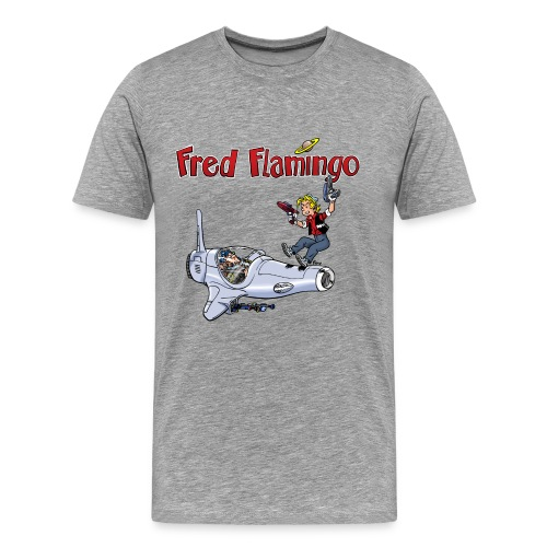 Fred Flamingo - Männer Premium T-Shirt