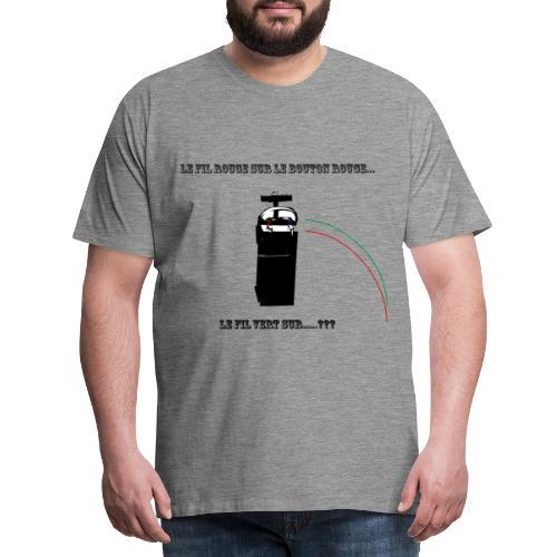 le fil rouge sur le bouton rouge - T-shirt Premium Homme
