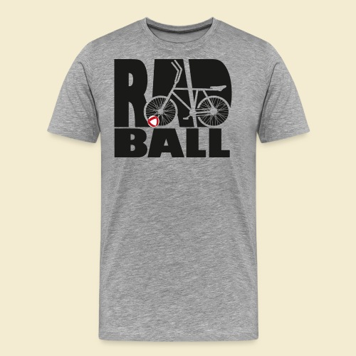 Radball   Typo Black - Männer Premium T-Shirt