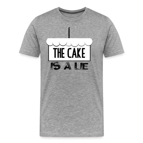Der Kuchen ist eine Lüge - Männer Premium T-Shirt