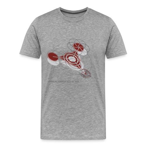 Kornkreis Barbury Castle 1991 Red - Männer Premium T-Shirt