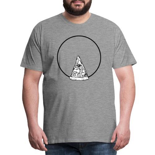 All sehendes Auge Pizza (schwarzer Druck) - Männer Premium T-Shirt