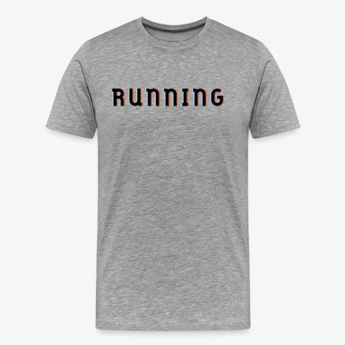 Laufen, 3D Effenk, Geschnk, Geschenkidee - Männer Premium T-Shirt