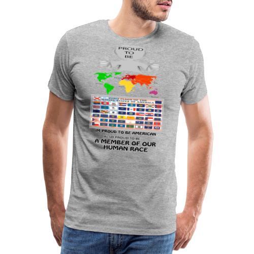 proud to be american - Men's Premium T-Shirt