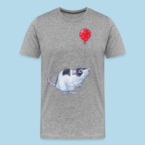 Ratte mit Ballon - Party - Geburtstag - Geschenk - Männer Premium T-Shirt