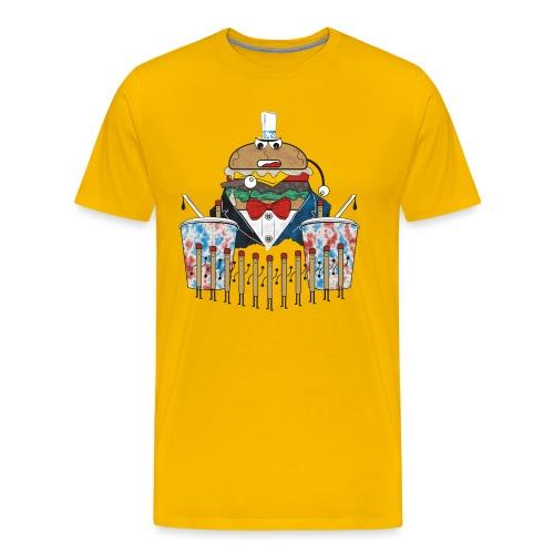 Hamburger army - Miesten premium t-paita