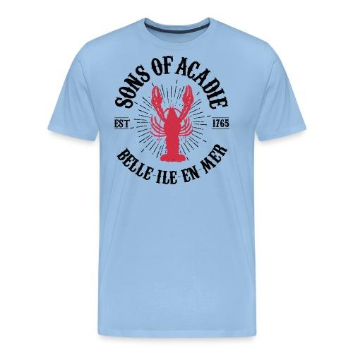 Sons of Acadie Homard Rouge et Noir - T-shirt Premium Homme