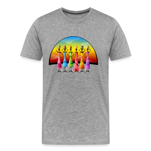 Frauen Afrika Farbig modern Gruppe - Männer Premium T-Shirt