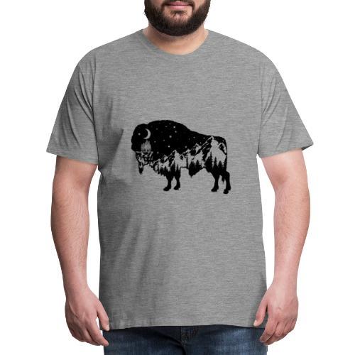 Die wilde Natur im Bison - Männer Premium T-Shirt