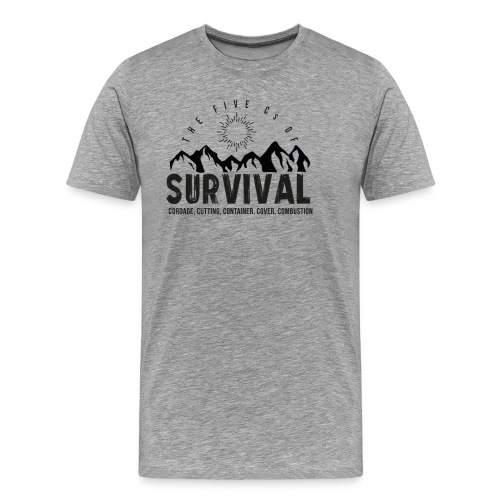 5Cs of Survival Mountain - Premium-T-shirt herr
