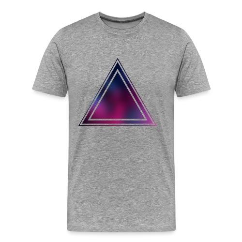 Purple and Blue (Bokeh) - Männer Premium T-Shirt