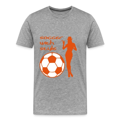 Soccer with Style 2C - Mannen Premium T-shirt