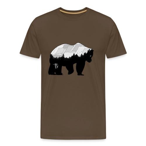 Geometric Mountain Bear - Maglietta Premium da uomo