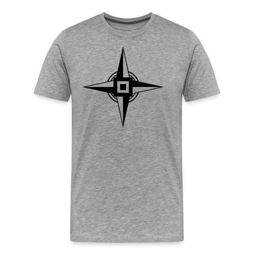 Erdenstern, Symbol, Vierzackiger Stern, Windrose - Männer Premium T-Shirt