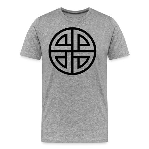 Thor Schildknoten, 4 Element, viking, celtic knot - Männer Premium T-Shirt