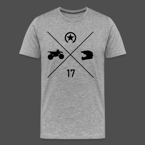 bike n helmet 17 - Men's Premium T-Shirt