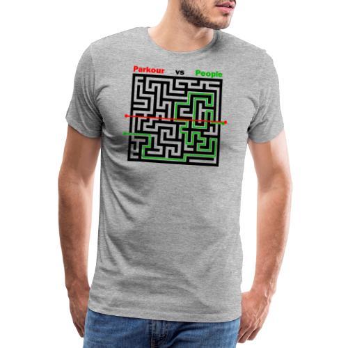 Parkour Maze parkour vs people - Herre premium T-shirt