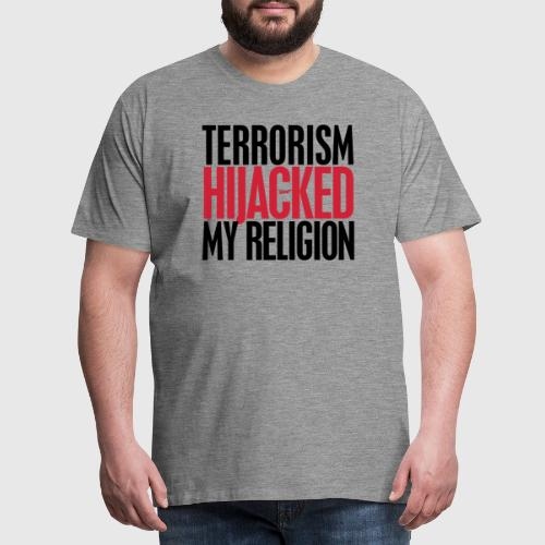 TERROISM png - Herre premium T-shirt