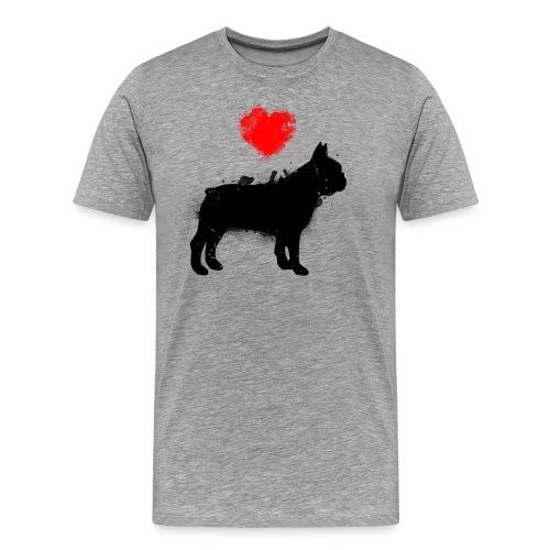 Französische Bulldogge Wunschname - Männer Premium T-Shirt