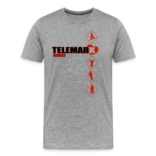 0testjacquardred - T-shirt Premium Homme