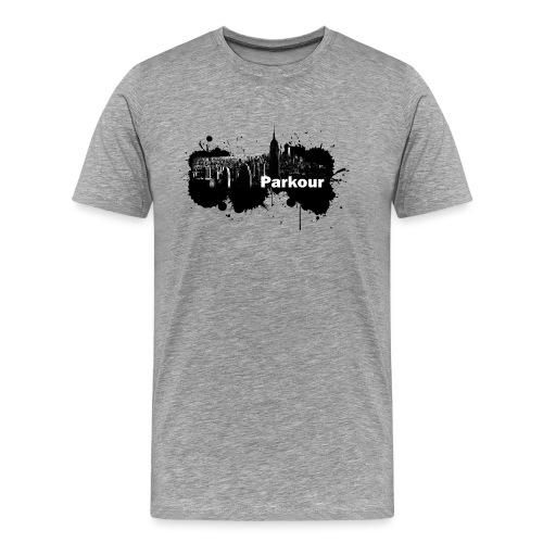 Parkour Splash New York - Herre premium T-shirt