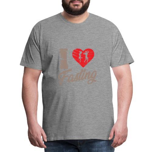 I love fasting - intermittent fastint interval - Men's Premium T-Shirt