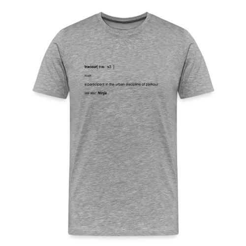 Traceur dictionary see also ninja - Herre premium T-shirt