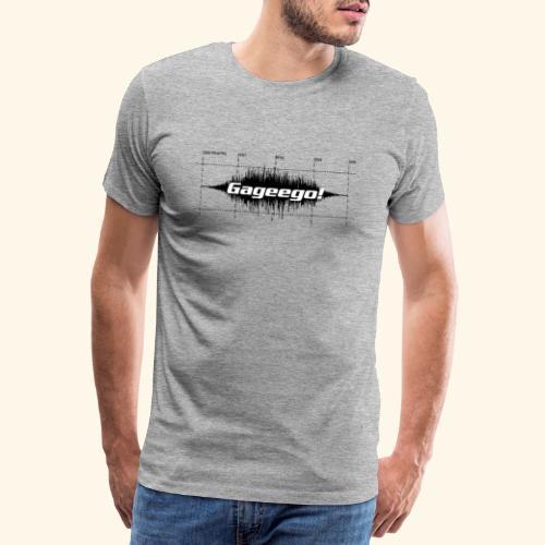 Gageego logga vit text - Premium-T-shirt herr