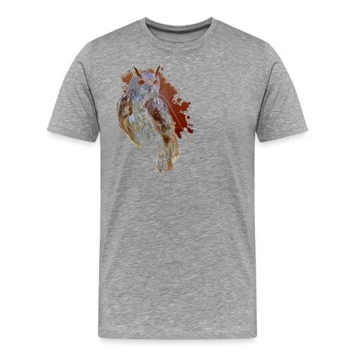 Abstract Owl - Männer Premium T-Shirt