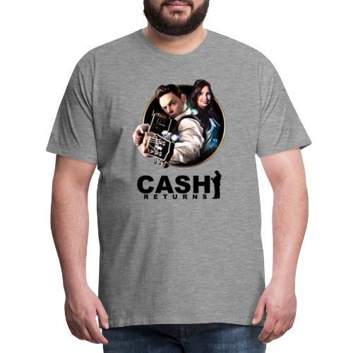 CR Circle Black Logo Design - Men's Premium T-Shirt