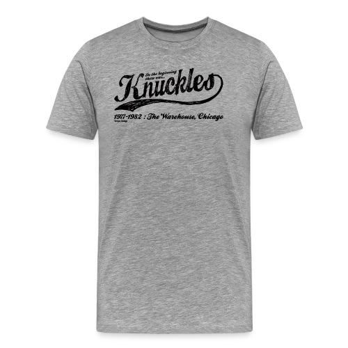 Knuckles-black.png - Men's Premium T-Shirt