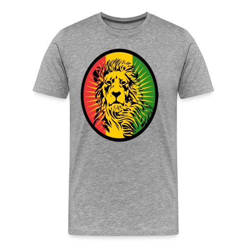 Lion Art flag Dreadlock Rastafari for Rasta lover - T-shirt Premium Homme