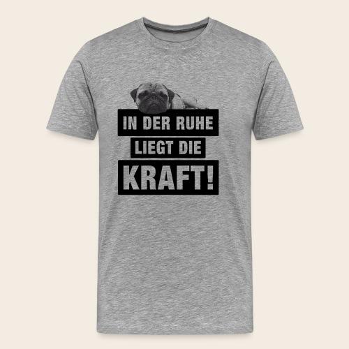 mops ruhe 2 - Männer Premium T-Shirt