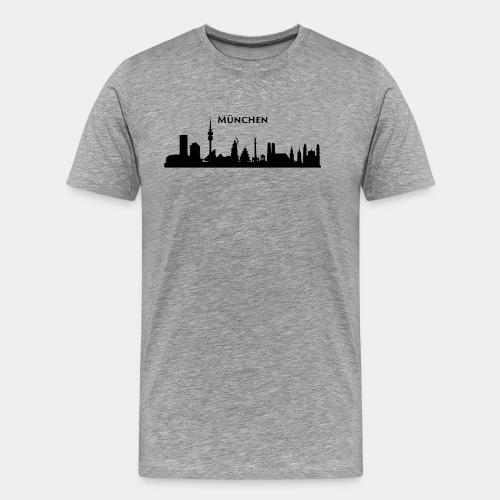 München Skyline - Männer Premium T-Shirt