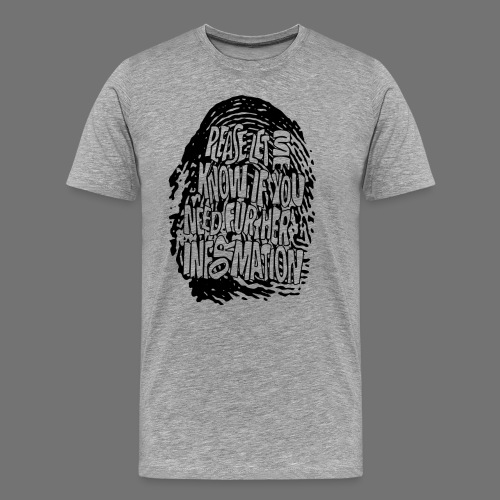 Fingerprint DNA (black) - Men's Premium T-Shirt