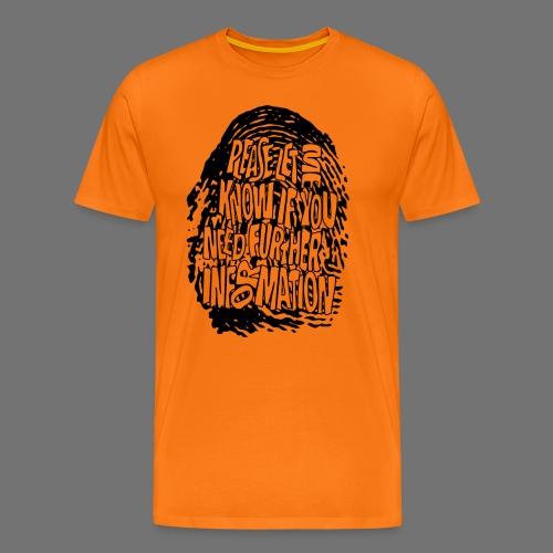 Fingerprint DNA (black) - Männer Premium T-Shirt