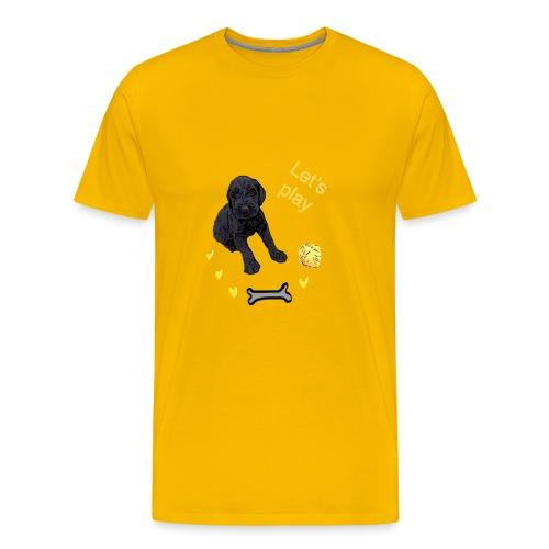 Giant Schnauzer puppy - Men's Premium T-Shirt