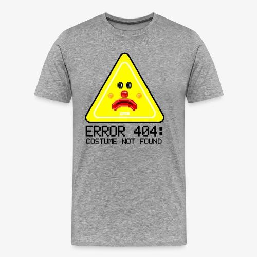 Error 404 Costume Not Found HARIZ Karneval Kostuem - Männer Premium T-Shirt
