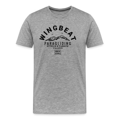 wingbeat logo - big - on back - in white - Men's Premium T-Shirt