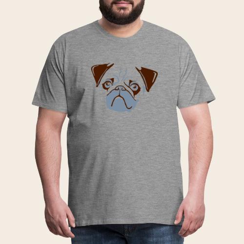 otiz mops kopf 2farbig - Männer Premium T-Shirt
