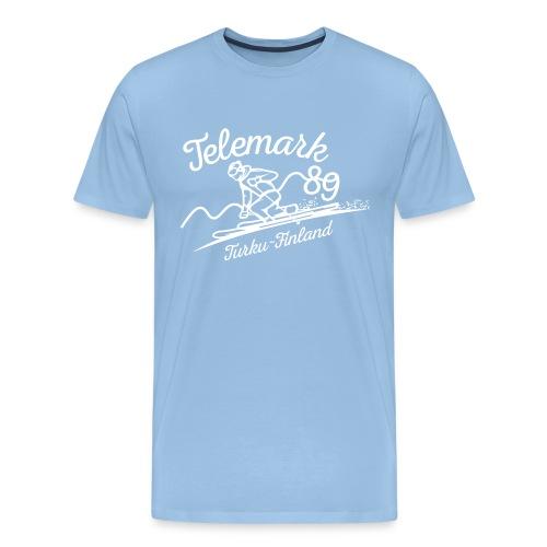 Telemark ´89 logopainatus - Miesten premium t-paita
