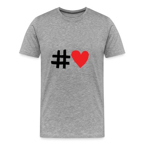 #Love - Herre premium T-shirt