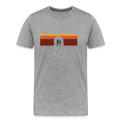 Couple in tunnel warm - Herre premium T-shirt
