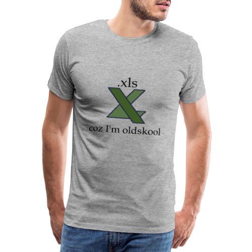 xls - coz i'm oldskool [DFSPR] - Men's Premium T-Shirt