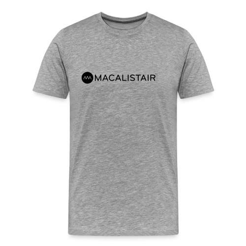 macalistair_logo+tekst - Mannen Premium T-shirt