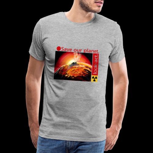 Save our planet. Fukushima Theme - Männer Premium T-Shirt