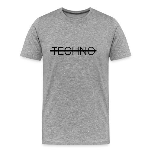 Techno Schriftzug T-Shirt bedrucken Geschenk - Männer Premium T-Shirt