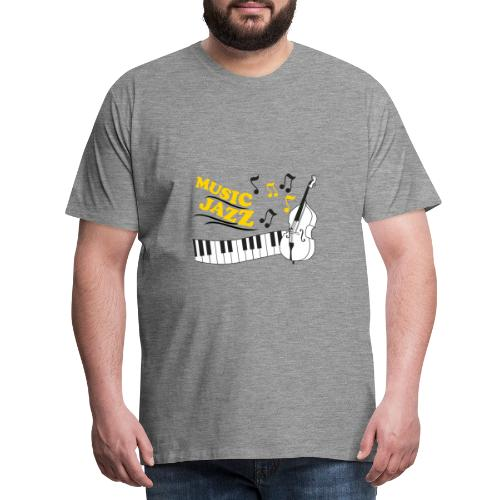 music jazz con piano e contrabbasso - Maglietta Premium da uomo