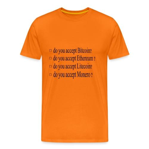 accepter - T-shirt Premium Homme